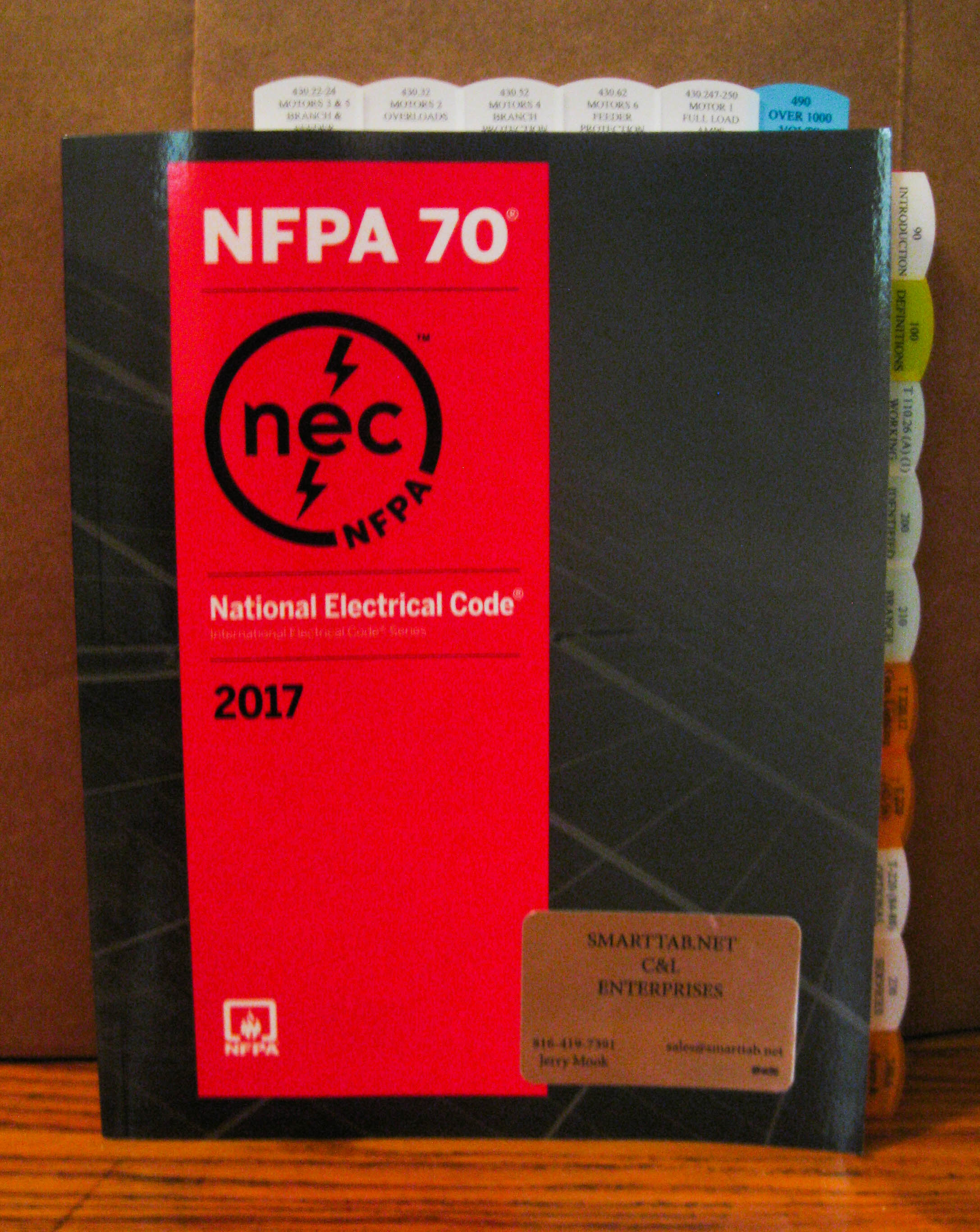 2017 NEC Code Book with Tabs installed